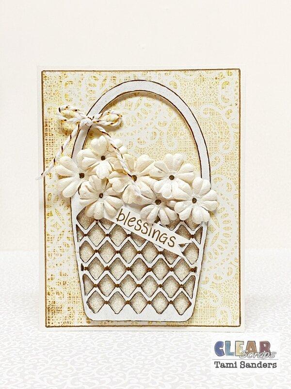 wedding basket card * Clear Scraps DT