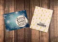 Holiday Stenciled Cards