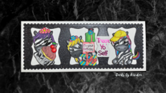 Zebra Slimline Birthday Card