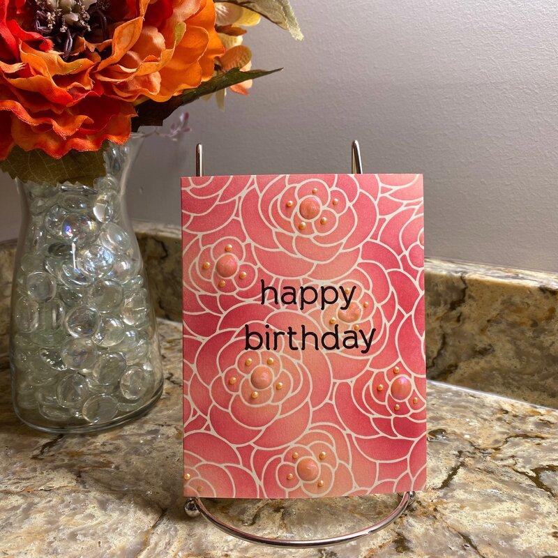 Simple stenciled birthday card