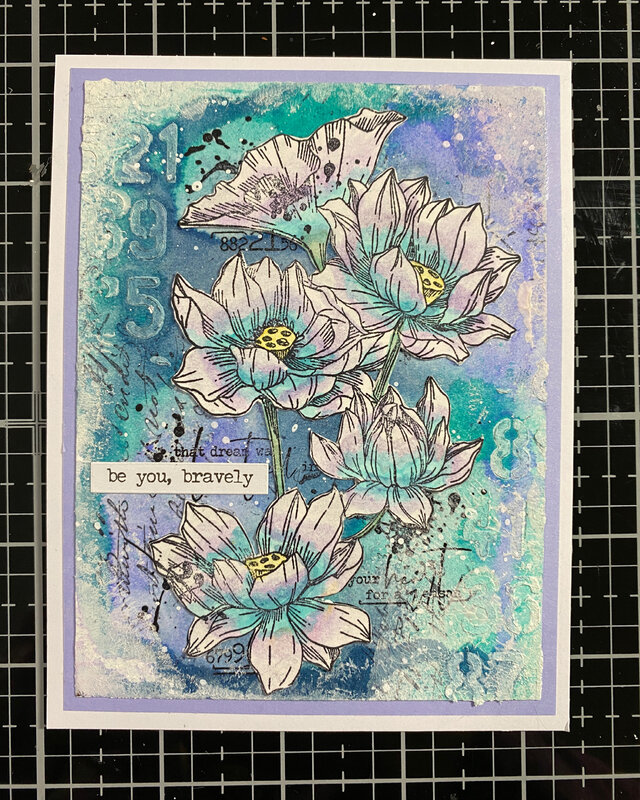 mixed media Mother's day card 1