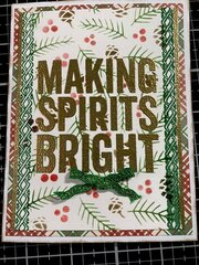 Christmas Card-Making Spirits Bright