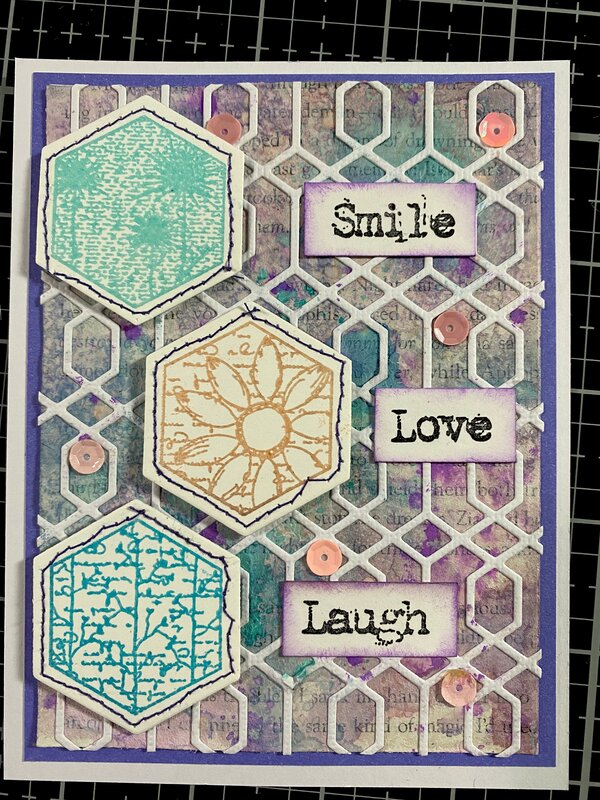 Mixed media Mother's day card-4