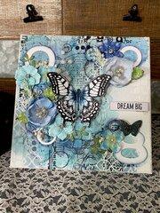 Mixed media Canvas- Grad gift-blue