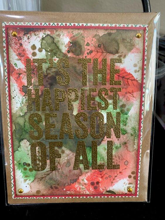 Mixed media Christmas card-24