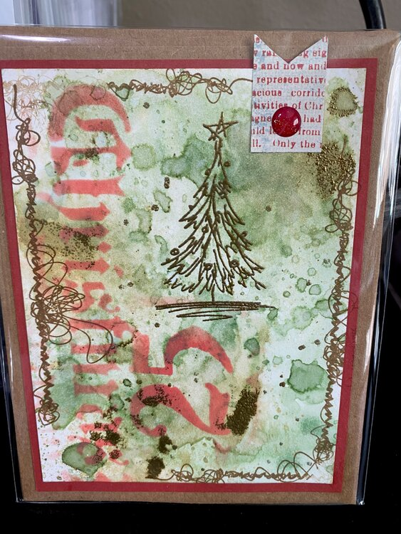 Mixed media Christmas card-26