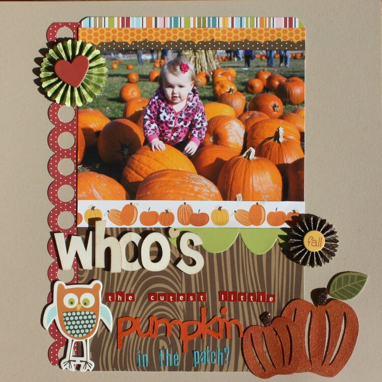 Whoo's the cutest little pumpkin in  the patch?
