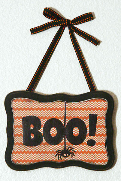 Boo! wooden sign