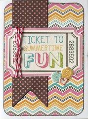 Ticket to Summertime Fun card