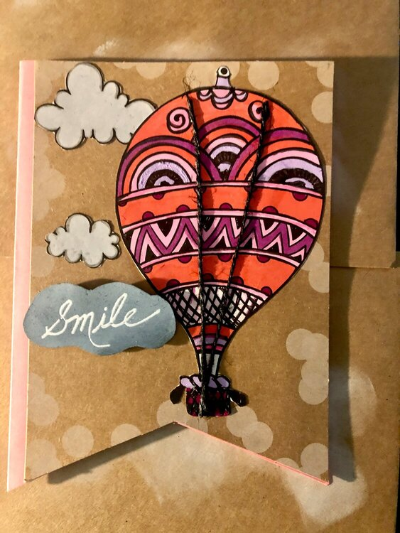 STAY HOME & Make a Card Using Coloring