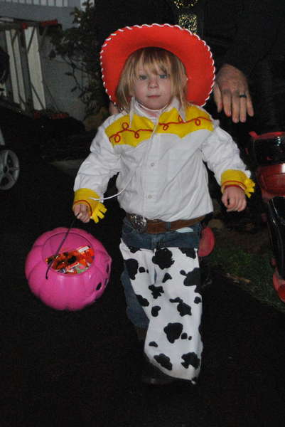 Bayleigh in her Jesse costume I made her