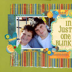 in just one blink