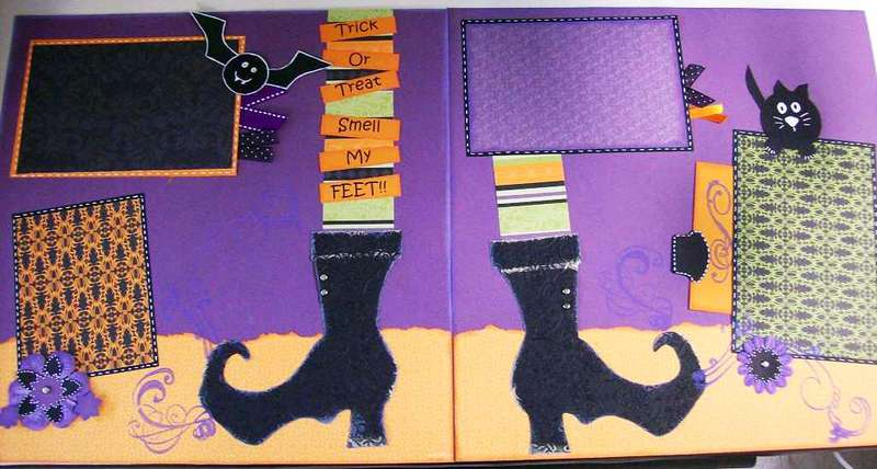 Halloween 2 page layout