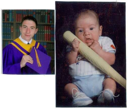 My Nephew John Then and Now!