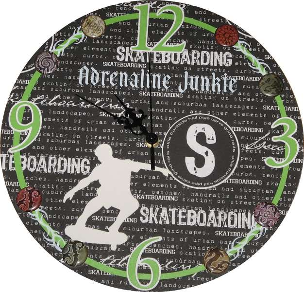 Skateboarder Clock