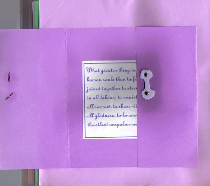 8 x 8 anniversary album purple open