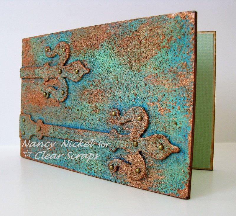 Wood Patina Hinge Card