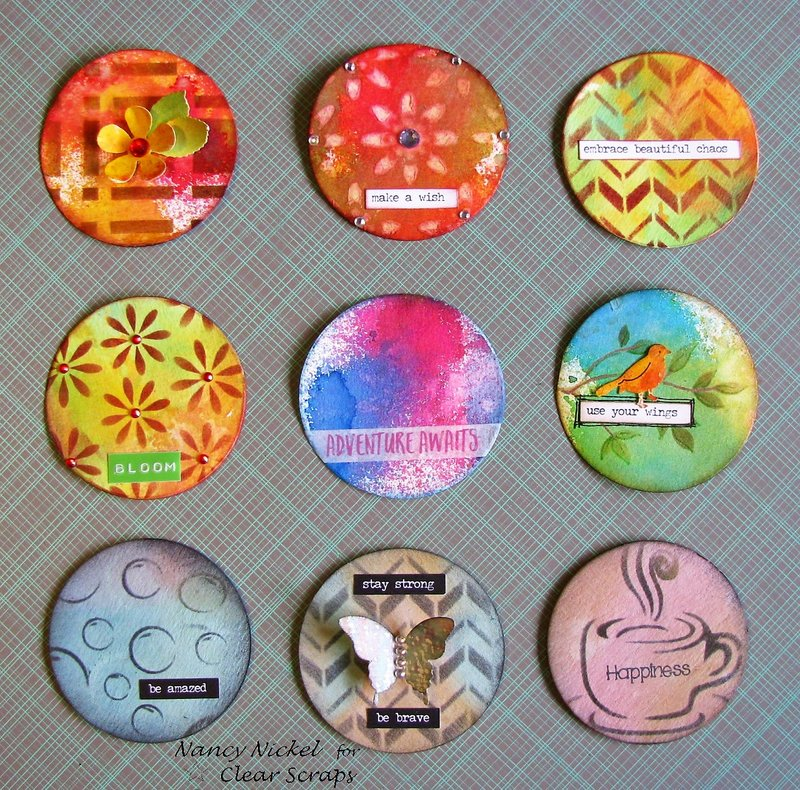 Assorted Artist Trading Coins for Clear Scraps