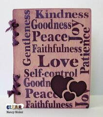 Wood Scripture Journal for Clear Scraps
