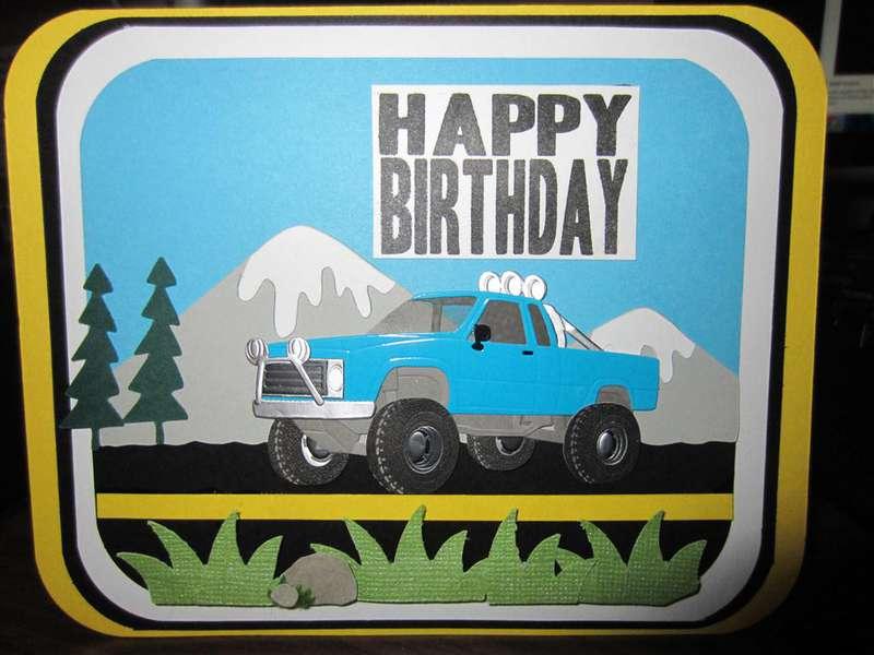 Masculine Truck card