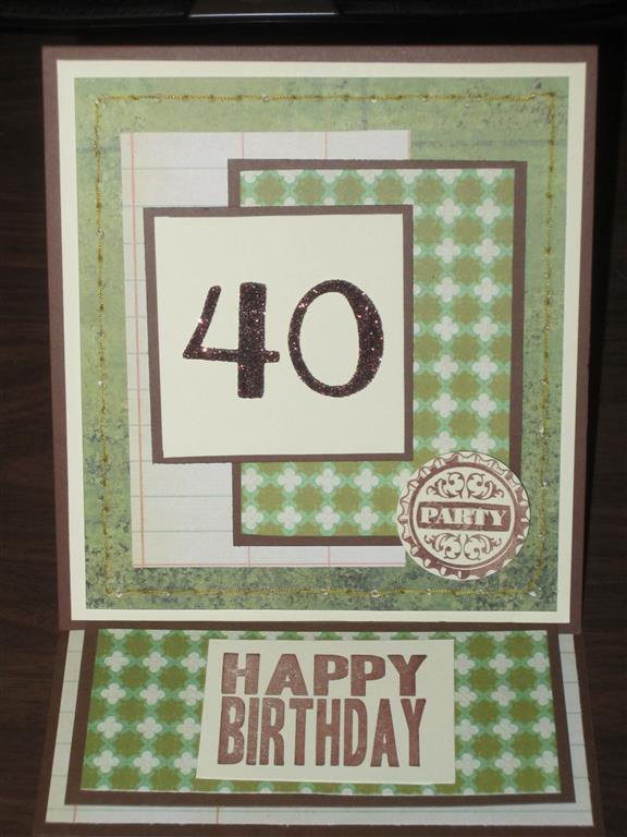 Easel card for a friend turning the BIG 40!!!