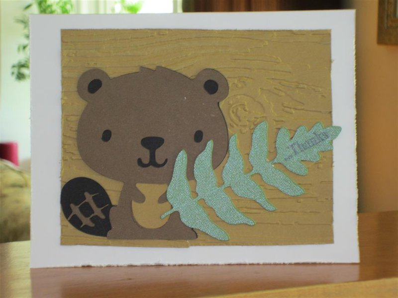 Thank you card for my DS Beaver leaders.