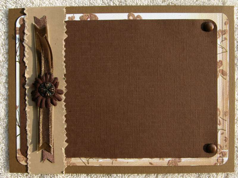 Brown & Tan Photo Mat for Step Outside Your Box Swap