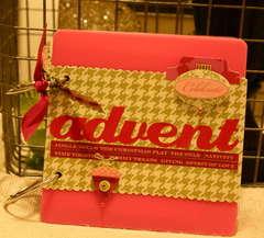6x6 pink acrylic album: advent countdown activity book