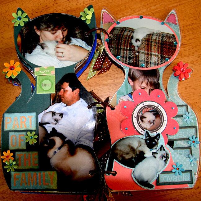 Acrylic Cat Album - pg 11, 12