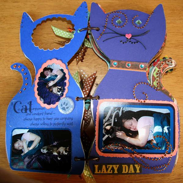 Acrylic Cat Album - pg 1, 2