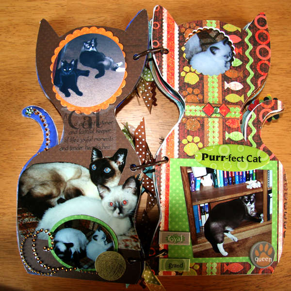 Acrylic Cat Album - pg 3, 4
