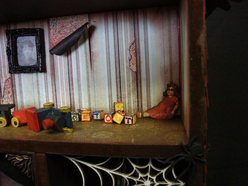 Haunted House Shadow Box Kid's Room