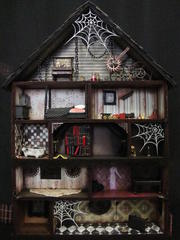Haunted House Shadow Box Interior