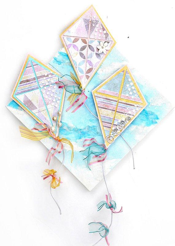 Kite Canvas - Flying Unicorns