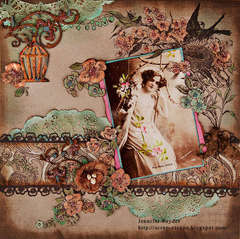Girl on a Swing - Scraps of Elegance April Awakening