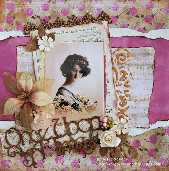 Once Upon A Time -Scraps Of Elegance April