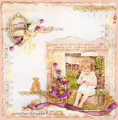 Picking Flowers in the Summer - Once Upon a Sketch Guest Designer - Scraps of Darkness