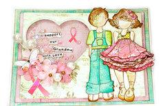 Breast Cancer Awareness Card - Julie Nutting Dolls