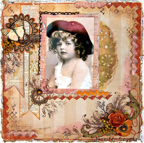 Girl In Curls - Scraps of Darkness - Colorful Creations