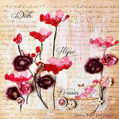 Wish Hope Dream in the Poppy Field