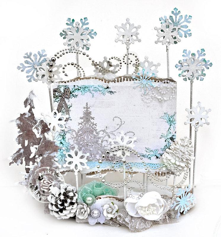 Wintery Card Holder - Prima DT
