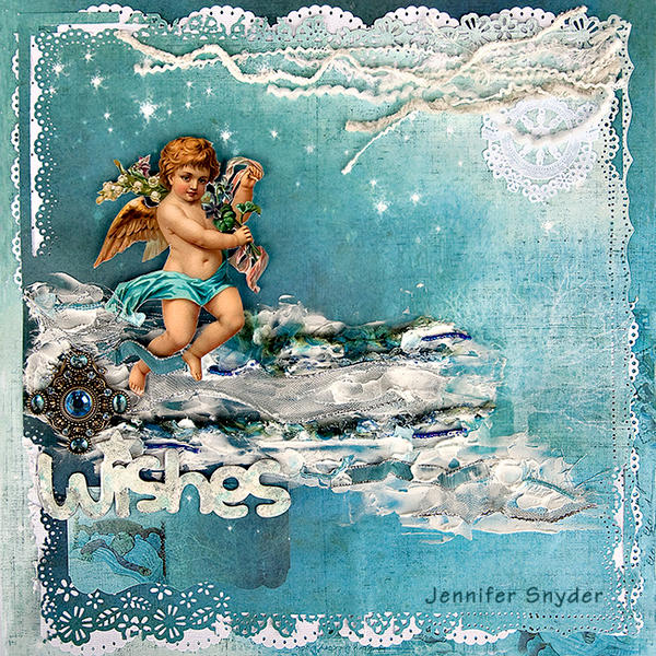"Wishes Float to Heaven - FabScraps ""Little Peeps"" Collection"