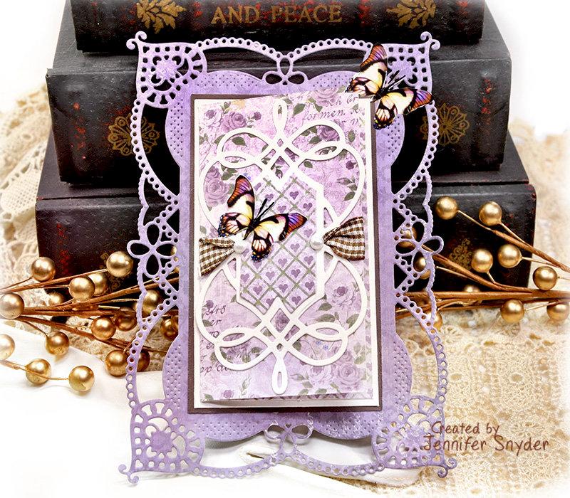 Delicate Purple Card - Spellbinders