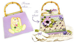 Home Decor - Wooden Purse updated with Petaloo