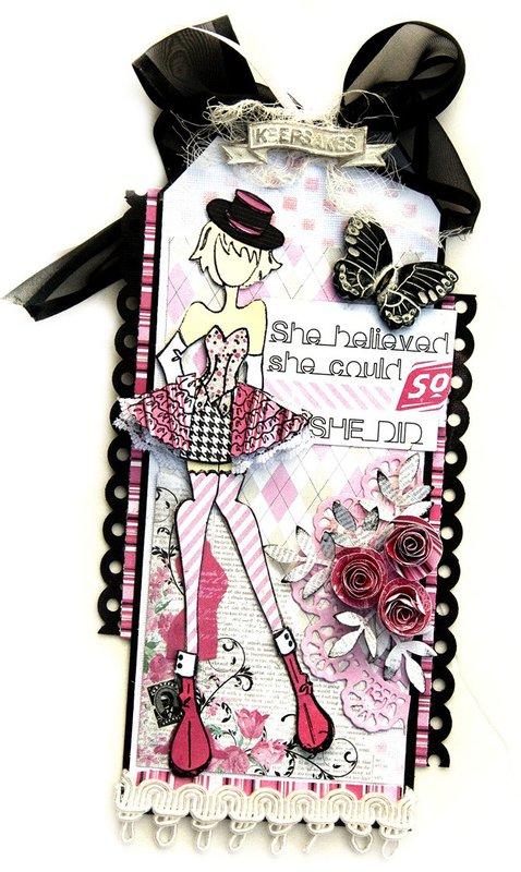 Priscilla Doll Tag - Julie Nutting Prima