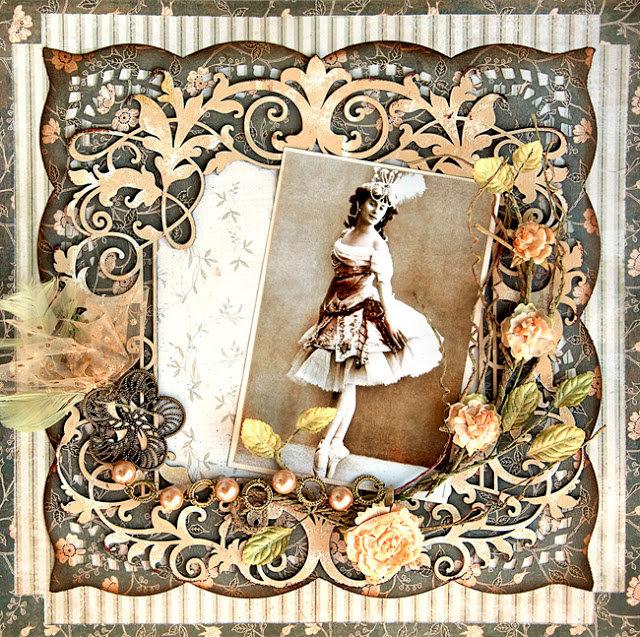 Vintage Ballerina - Blue Fern Studios