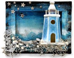 Lighthouse Canvas - Flying Unicorn