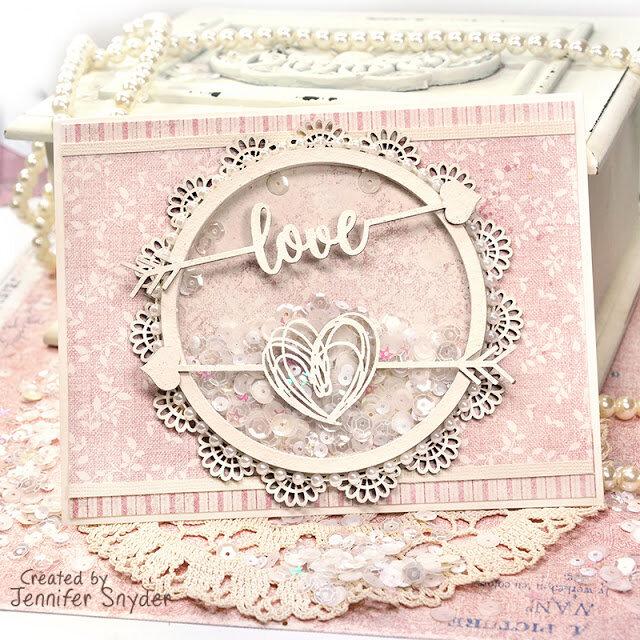 Shaker Card full of love