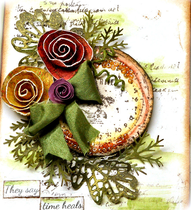 Watercolor and Stamping Card - Prima