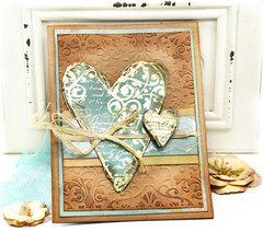 Heart Card  - Flying Unicorn